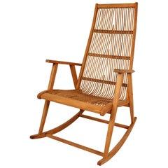 Midcentury German Rattan Rocking Chair, 1960s