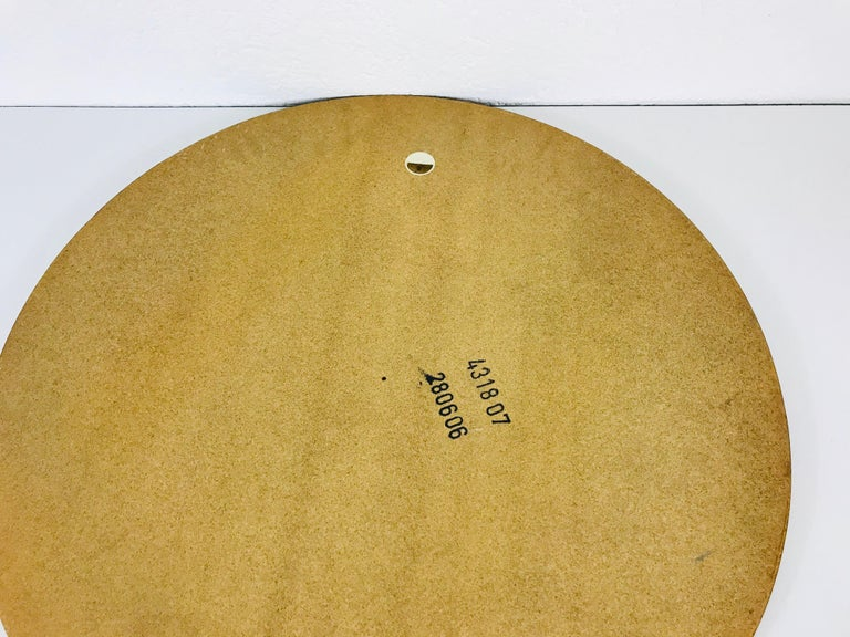 Midcentury German Round Wooden Mirror, Germany, 1960s For Sale 5