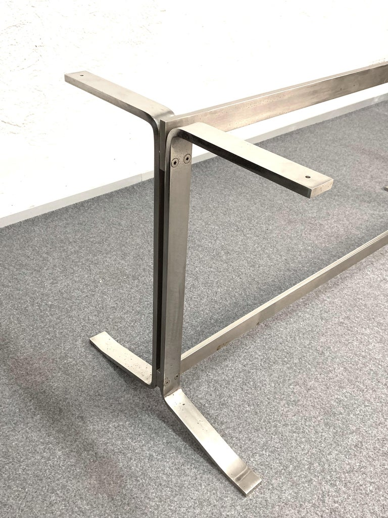 Midcentury Gianni Moscatelli Steel Writing Table for Formanova, Italy, 1960s For Sale 4