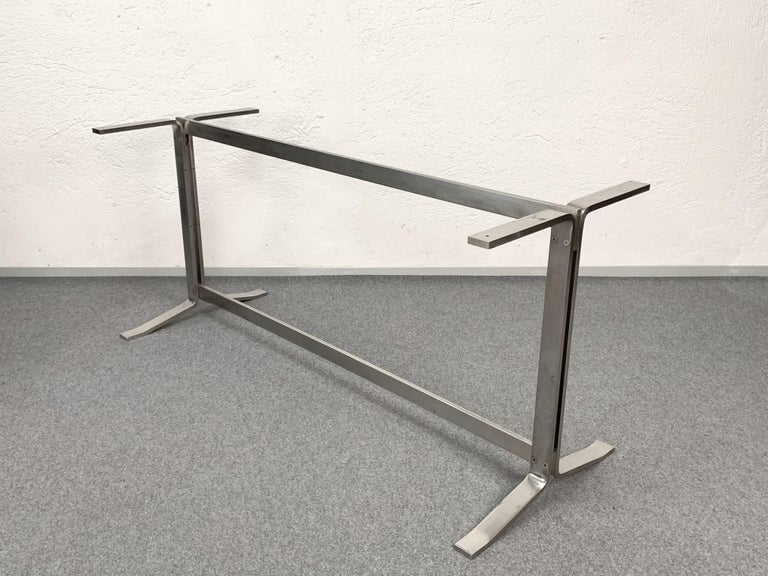 Midcentury Gianni Moscatelli Steel Writing Table for Formanova, Italy, 1960s For Sale 6