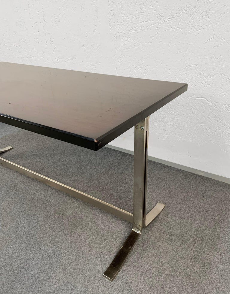 Midcentury Gianni Moscatelli Steel Writing Table for Formanova, Italy, 1960s For Sale 7