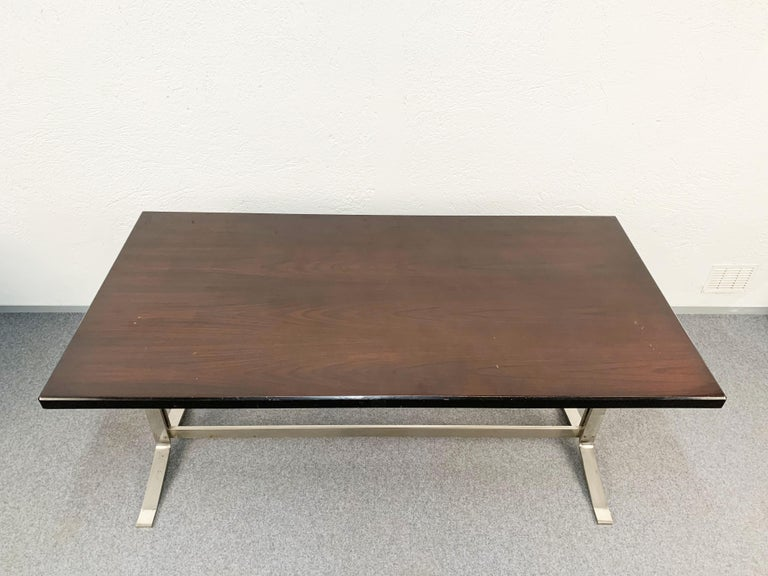 Midcentury Gianni Moscatelli Steel Writing Table for Formanova, Italy, 1960s For Sale 10