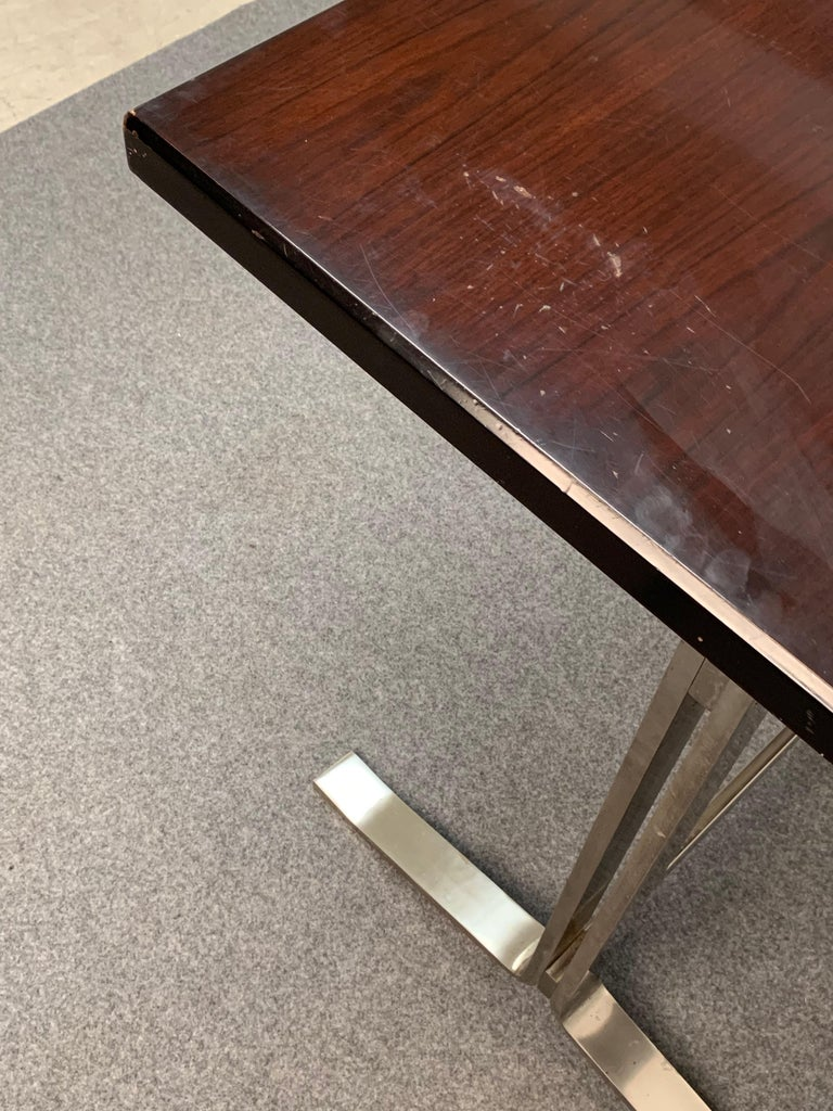 Midcentury Gianni Moscatelli Steel Writing Table for Formanova, Italy, 1960s For Sale 13