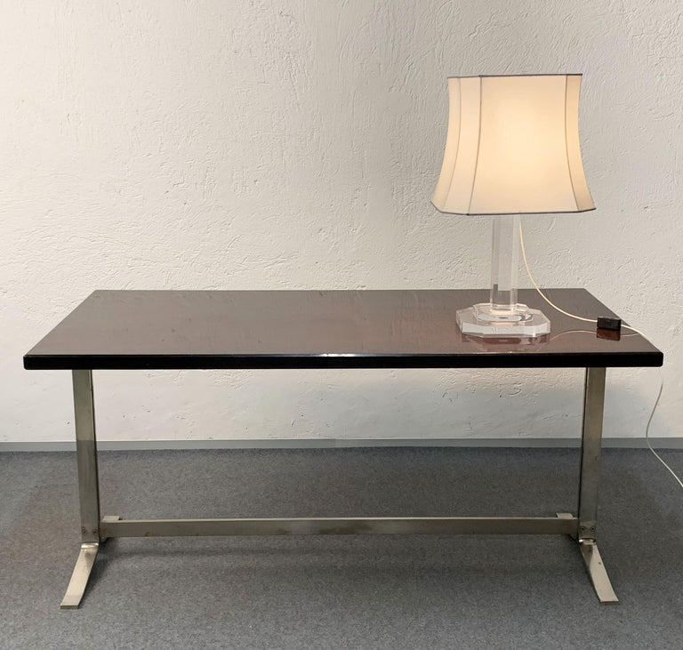 Mid-20th Century Midcentury Gianni Moscatelli Steel Writing Table for Formanova, Italy, 1960s For Sale
