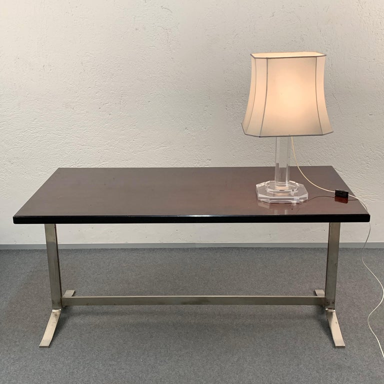 Midcentury Gianni Moscatelli Steel Writing Table for Formanova, Italy, 1960s For Sale 1