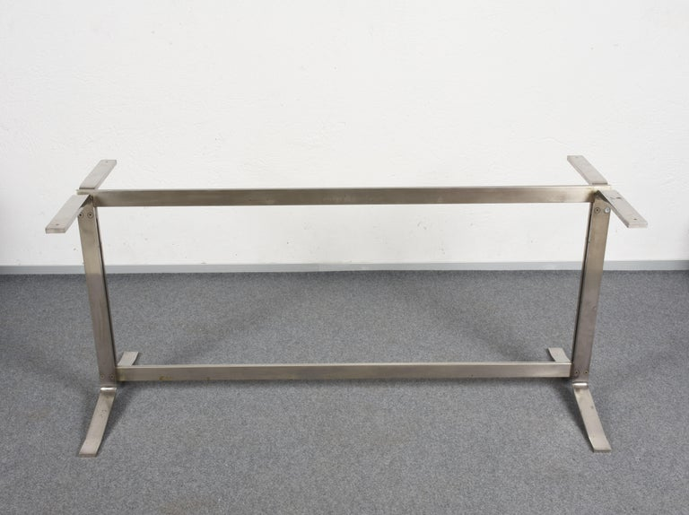 Midcentury Gianni Moscatelli Steel Writing Table for Formanova, Italy, 1960s For Sale 2