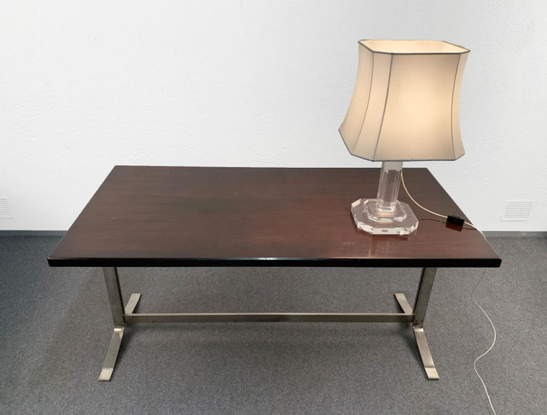 Midcentury Gianni Moscatelli Steel Writing Table for Formanova, Italy, 1960s For Sale 3