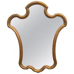 Midcentury Giltwood Keyhole Mirror by La Barge