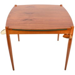 "Midcentury Gio Ponti ""Mansonia"" Walnut Wood Italian Game Table, 1958"