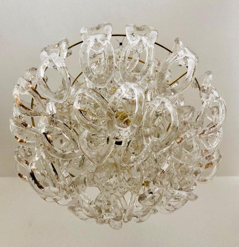 Midcentury Giogali Murano Glass Chandelier by Angelo Mangiarotti, 1970s In Good Condition For Sale In Badajoz, Badajoz
