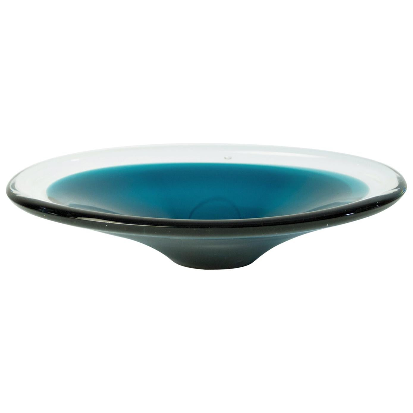 """Midcentury Glass Bowl """"Coquille"""" by Flygsfors, Sweden"""