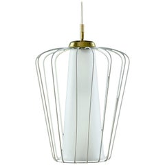 Midcentury Glass Ceiling Lamp
