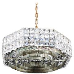 Midcentury Glass Chandelier