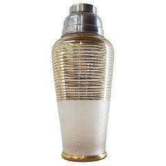 Midcentury Glass Coctail Shaker, Czechoslovakia, 1960s