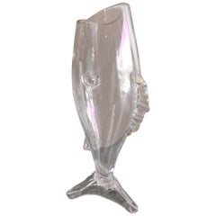Midcentury Glass Fish Vase by Blenko