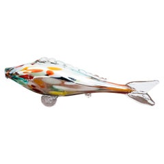 Midcentury Glass Ornament, Fish, 1960s