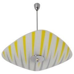 Midcentury Glass Pendant, 1960s