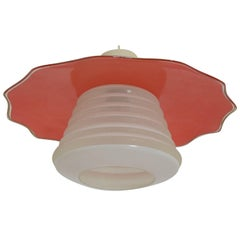 Midcentury Glass Pendant, 1970s