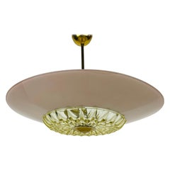 Midcentury Glass Pendant Lamp in the Style of Boris Lacroix, 1960s