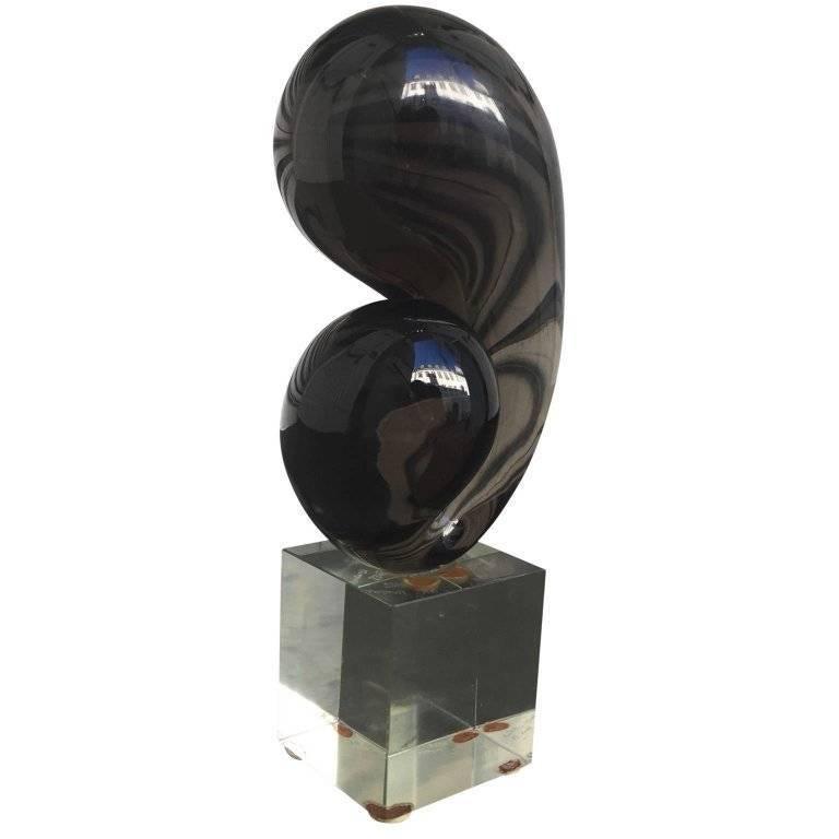 Amazing organic Murano sculpture. Signed C. A. K. 1972. A. Ludi.