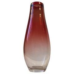 Jahrhundertmitte Glas Vase von Nils Landberg für Orrefors, 1950er Jahre