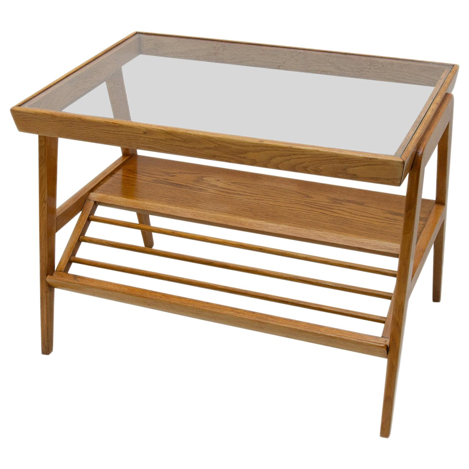 Midcentury Glazed Coffee or Side Table, Czechoslovakia, 1960s