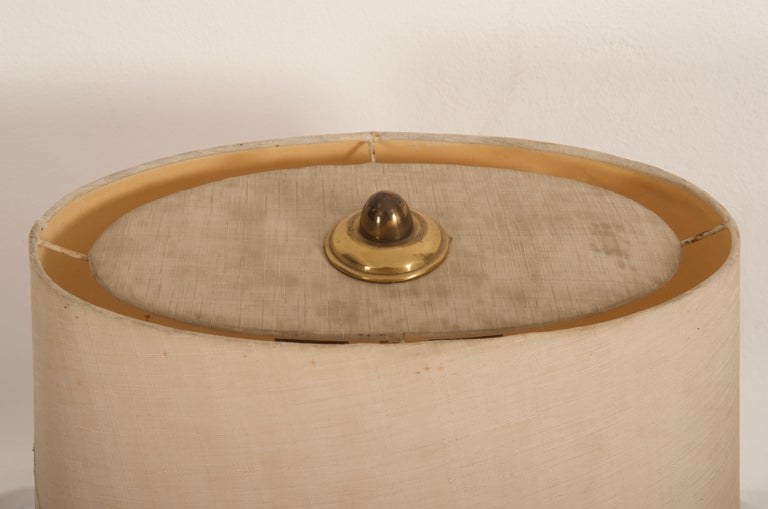 Midcentury Goatskin Table Lamp by Aldo Tura In Fair Condition For Sale In Vienna, AT
