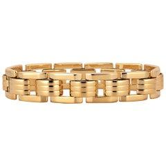 Midcentury Gold Small Link Track Bracelet