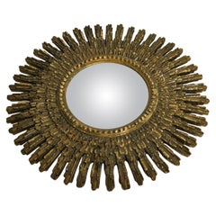 Midcentury Golden Sunburst Mirror