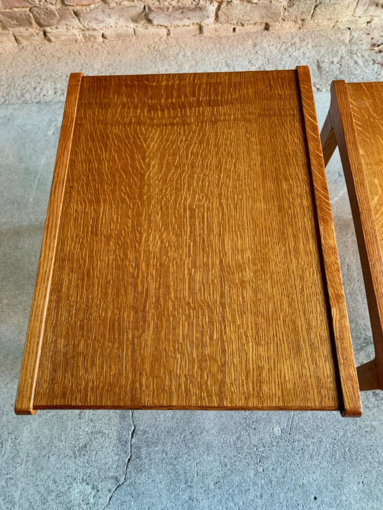 Midcentury Gordon Russell Nest of Tables Set of Three Oak, 1950s For Sale 5