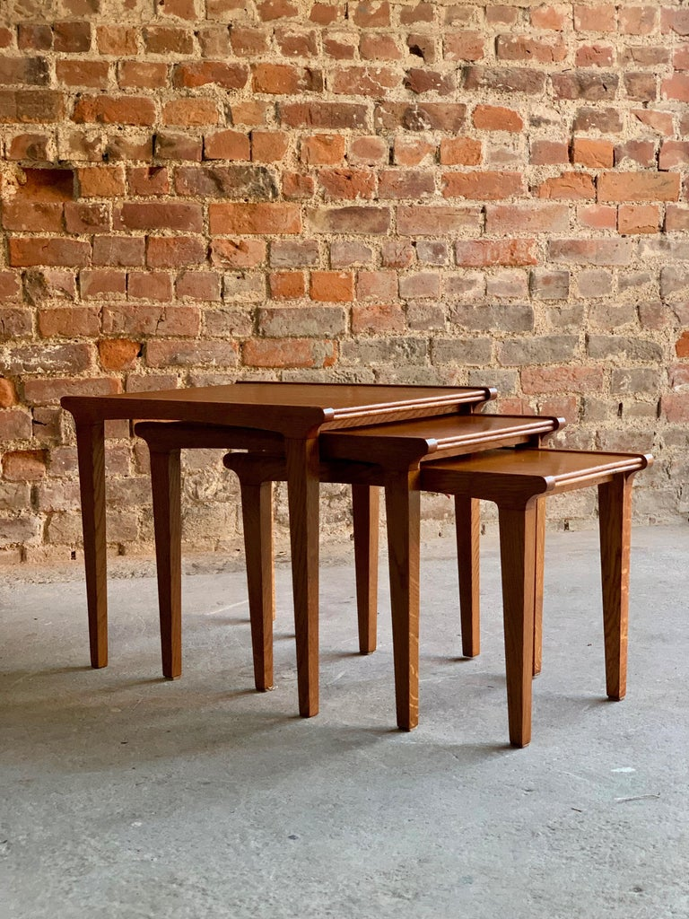 Midcentury Gordon Russell Nest of Tables Set of Three Oak, 1950s For Sale 6