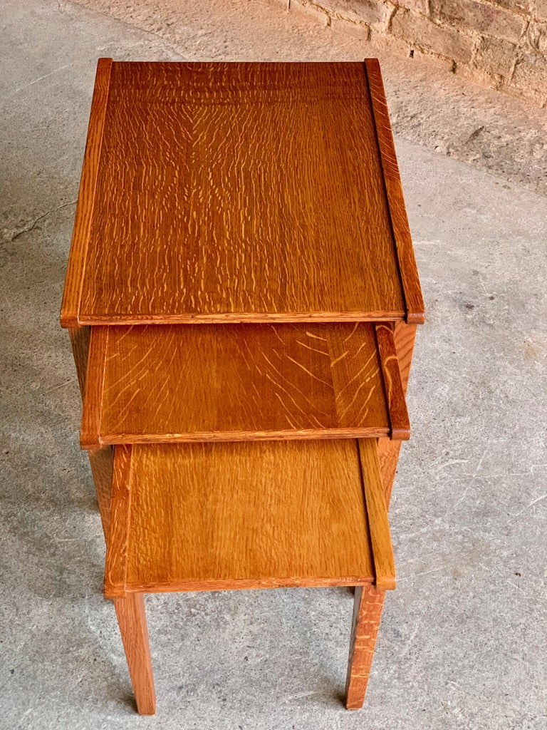 Midcentury Gordon Russell Nest of Tables Set of Three Oak, 1950s For Sale 7
