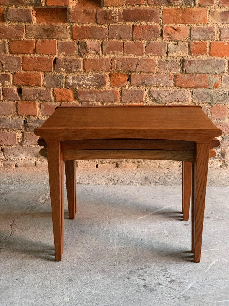 Midcentury Gordon Russell Nest of Tables Set of Three Oak, 1950s For Sale 3