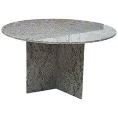 Midcentury Granite Round Dining Table, 1980s
