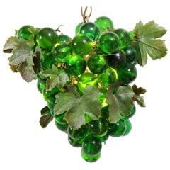 Midcentury Grape Cluster Light of Green Lucite