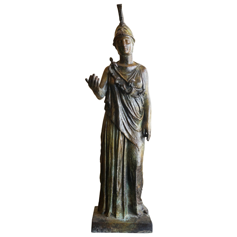 Midcentury Greek Bronze Statue