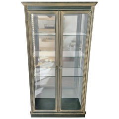 Midcentury Greek Decoration Motives Glass Vitrine