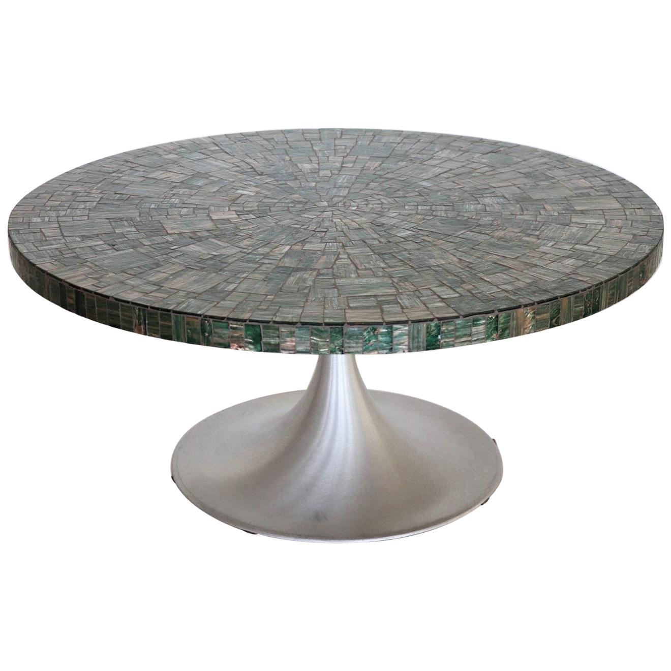 Midcentury Green Mosaic Tulip Coffee Table by Heinz Lilienthal, 1960s