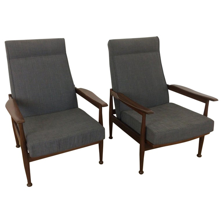 Awe Inspiring Midcentury Guy Rogers Manhattan Reclining Armchairs Creativecarmelina Interior Chair Design Creativecarmelinacom