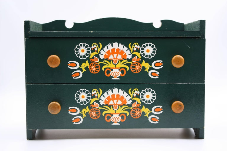Mid-Century Modern Midcentury Hand-Painted Dolls Furniture Germany For Sale