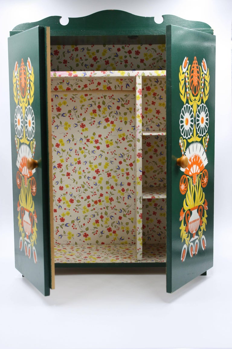 Mid-20th Century Midcentury Hand-Painted Dolls Furniture Germany For Sale