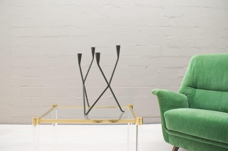 Austrian Midcentury Handcrafted Iron Candleholder from Germany, 1950s For Sale