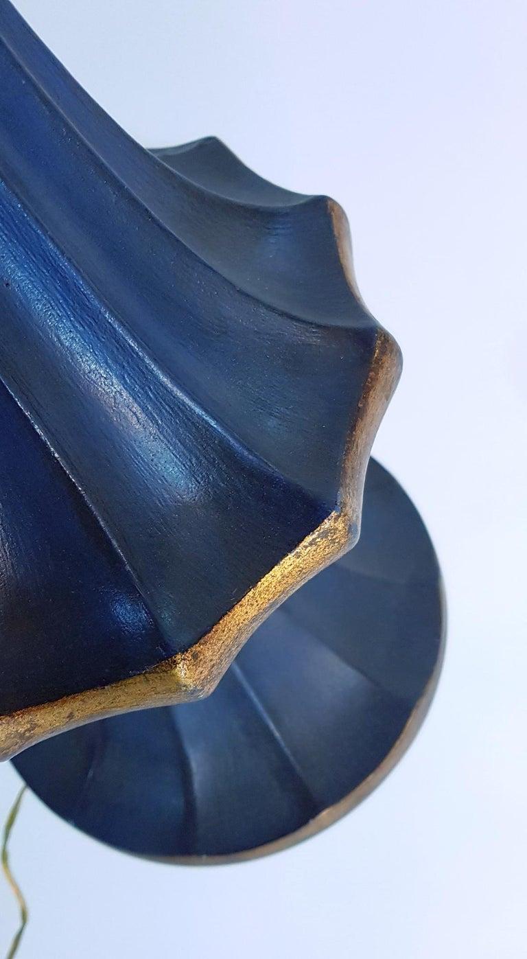 Mid-Century Modern Midcentury Handmade Italian Ceramic Table Lamp For Sale
