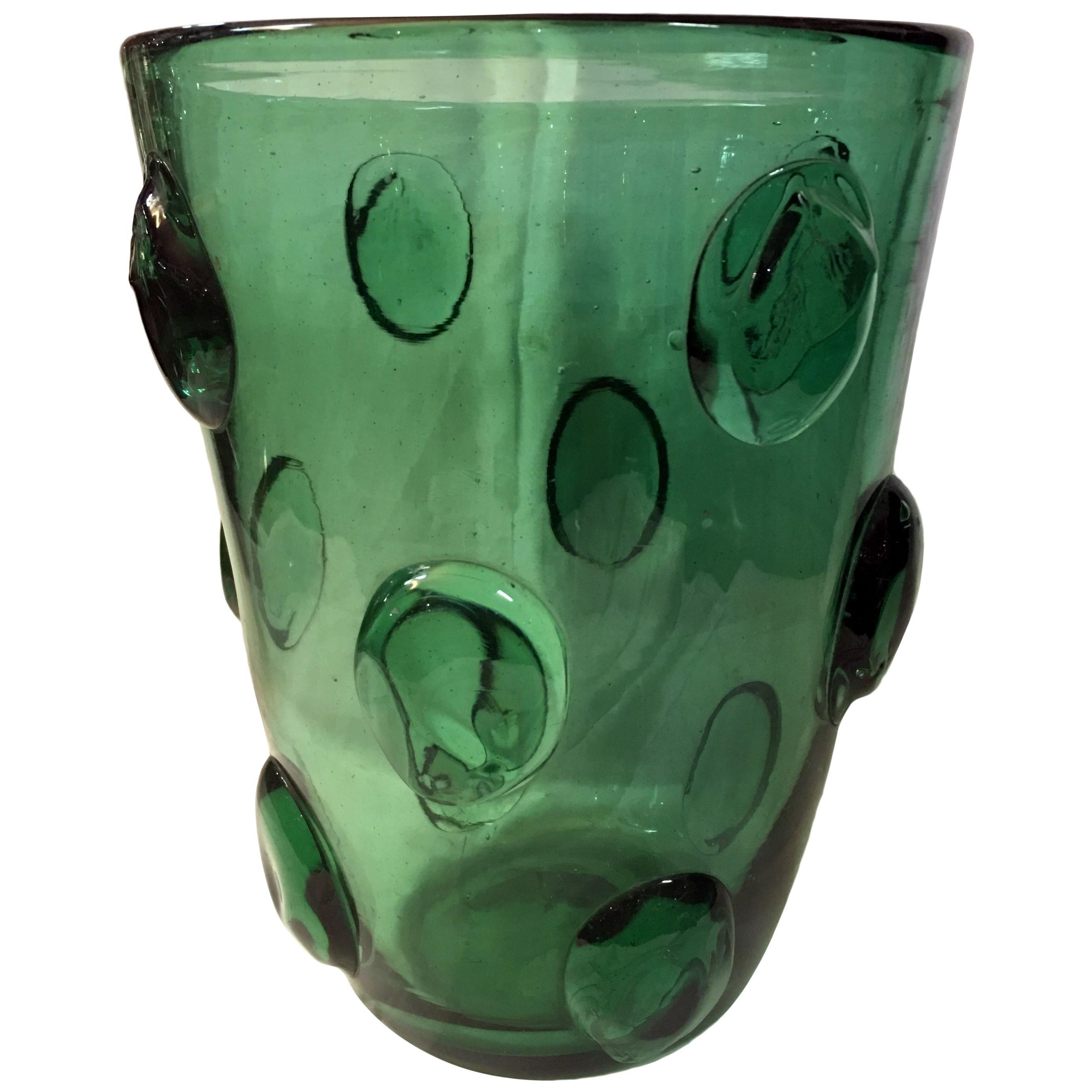 Midcentury Handmade Vase Murano Italy