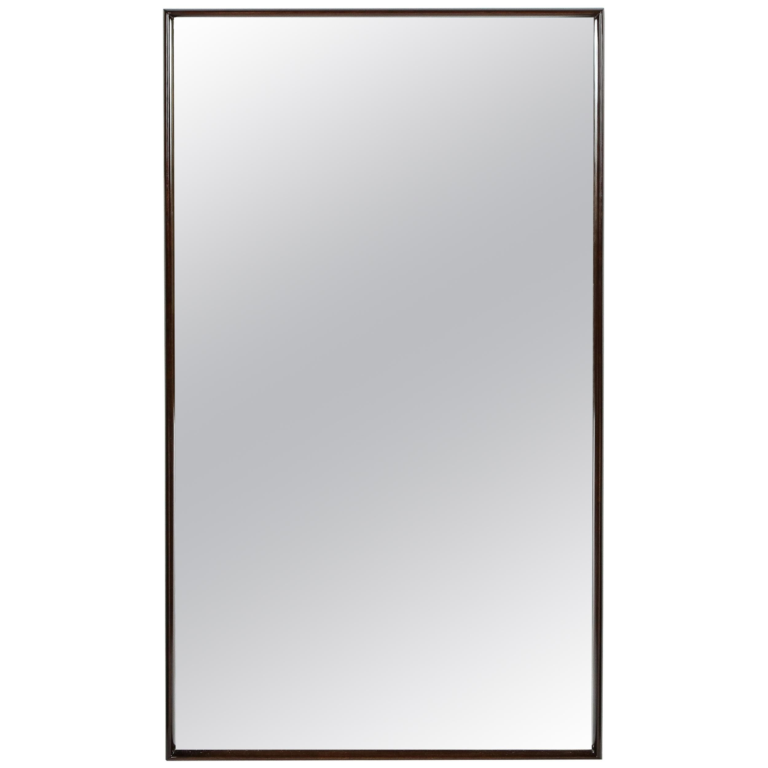 Midcentury Handrubbed Walnut Mirror by T.H. Robsjohn-Gibbings for Widdicomb Co.