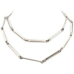Midcentury Hans Hansen Sterling Silver Link Necklace