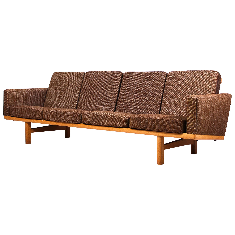 Midcentury Hans J Wegner GE-236/4 Oak Sofa by GETAMA