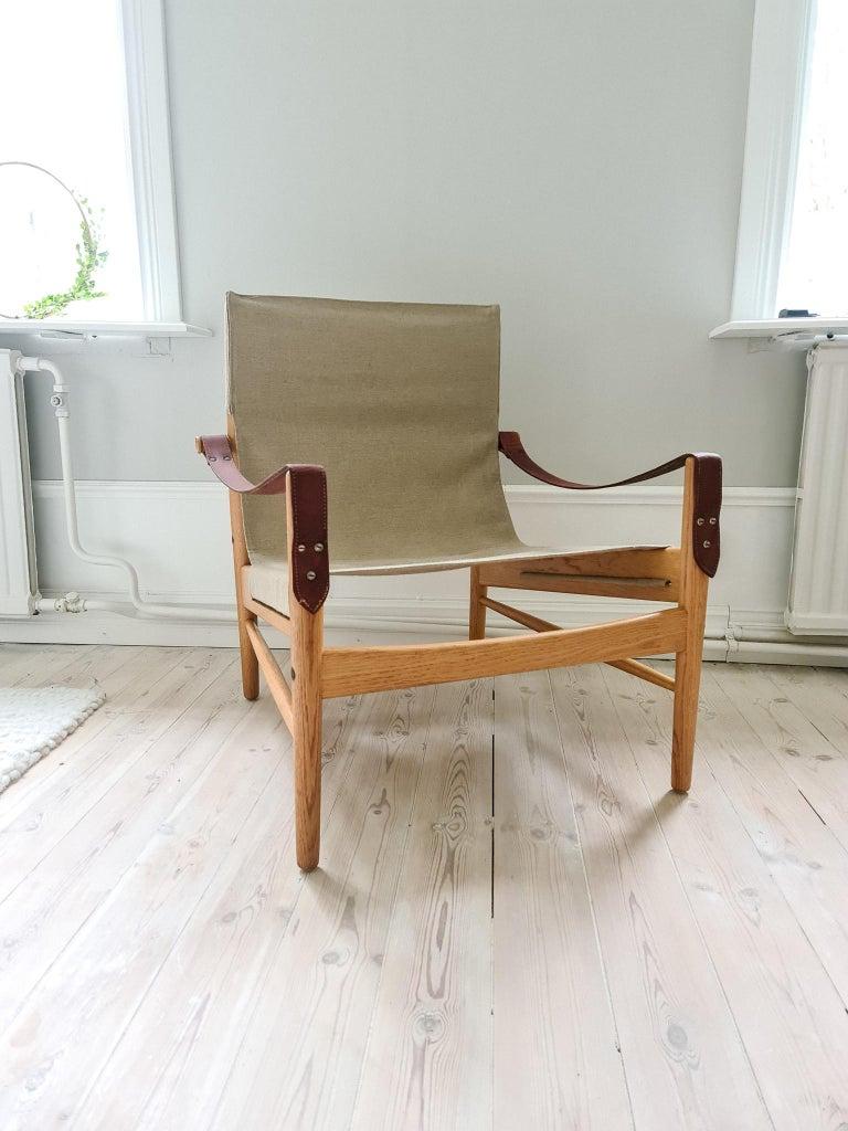 Midcentury Hans Olsen 'Antilope' Safari Lounge Chair, 1960s For Sale 9