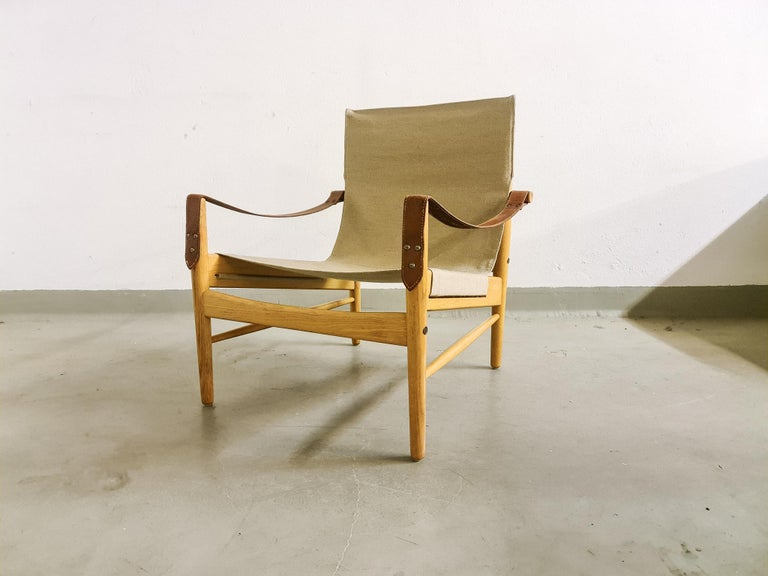 Swedish Midcentury Hans Olsen 'Antilope' Safari Lounge Chair, 1960s For Sale