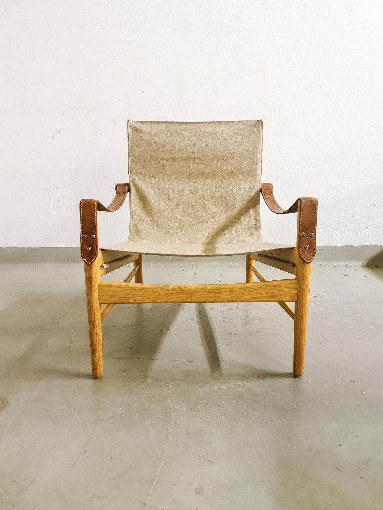 Midcentury Hans Olsen 'Antilope' Safari Lounge Chair, 1960s In Good Condition For Sale In Langserud, SE